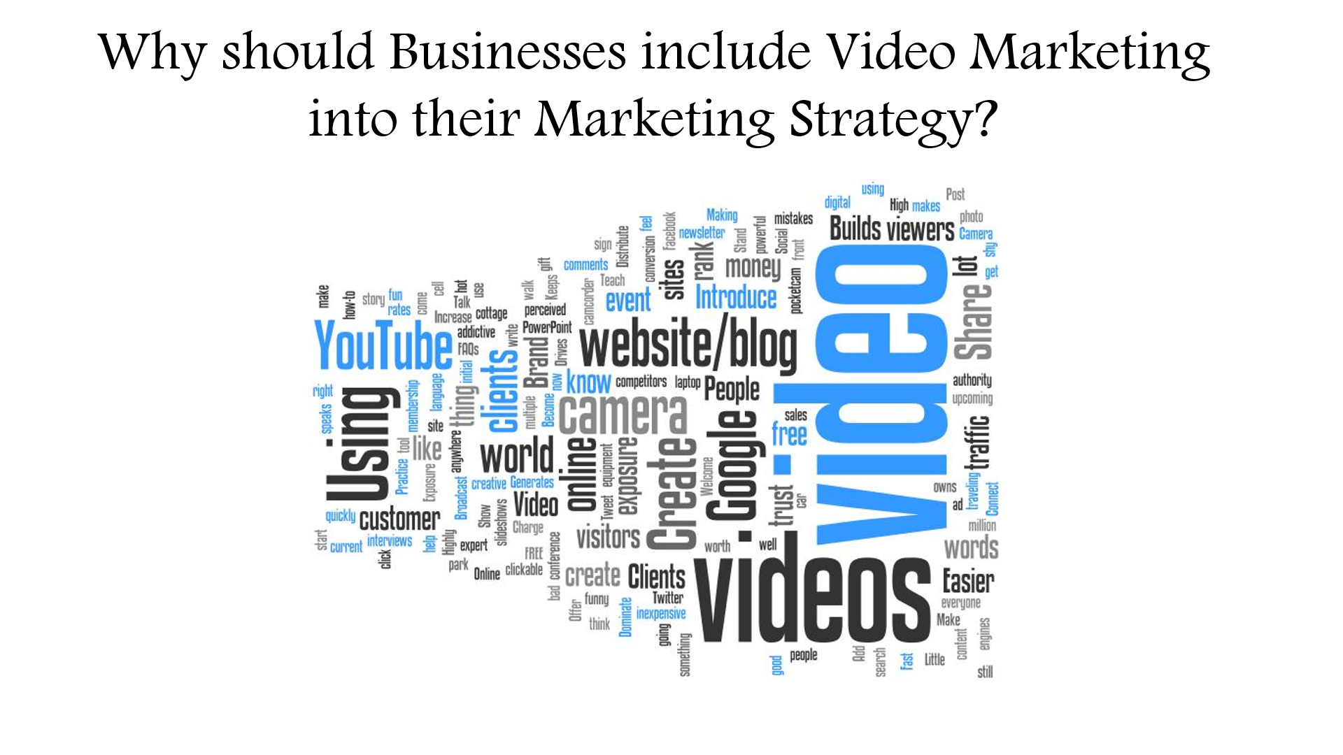 Why should businesses include Video Marketing into their Marketing Strategy?